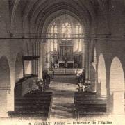 Charly-sur-Marne (Aisne) CPA Eglise intérieur