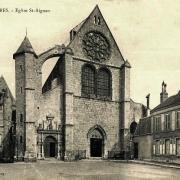 Chartres (28) L'église Saint-Aignan CPA