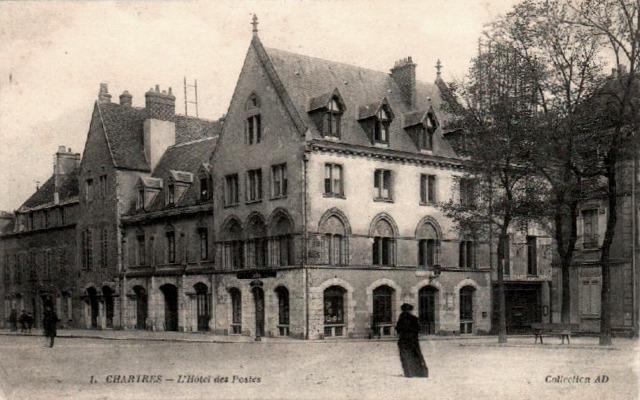 Chartres (28) L'Hôtel des Postes CPA