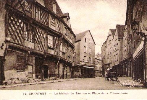 Chartres (28) La maison du Saumon CPA