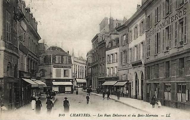 Chartres (28) Le café du Commerce CPA