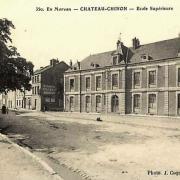 Château-Chinon (Nièvre) L'école supérieure CPA