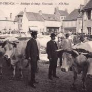 Château-Chinon (Nièvre) Les attelages de boeufs CPA