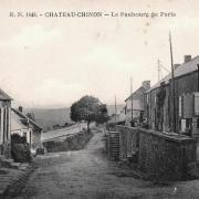 Château-Chinon (Nièvre) Le Faubourg de Paris CPA