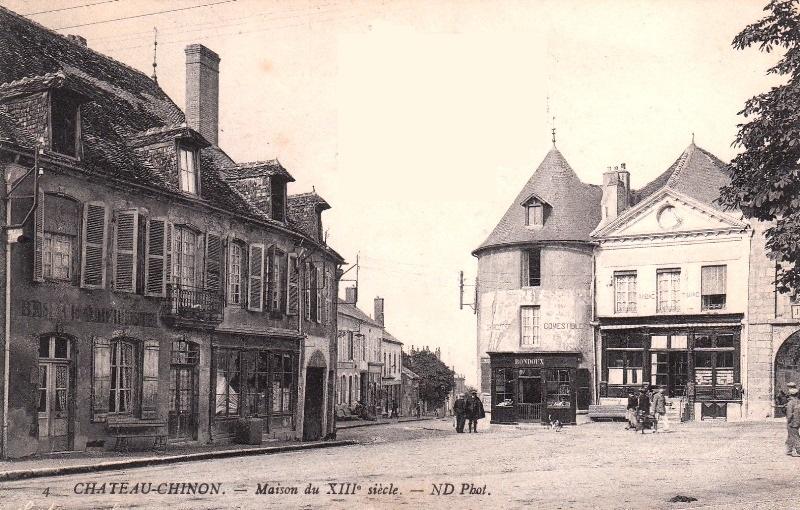 Château-Chinon (Nièvre) Maisons anciennes CPA