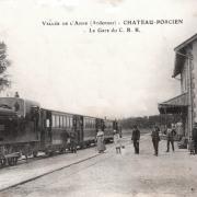 Château-Porcien (08) Gare CPA