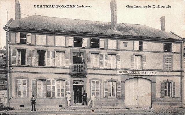 Château-Porcien (08) Gendarmerie CPA