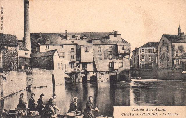 Château-Porcien (08) Moulin CPA