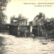 Château-Porcien (08) Ruines de la Filature CPA
