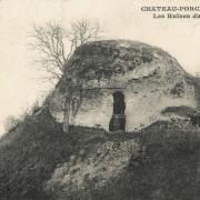 Château-Porcien (08) Ruines du château, la butte CPA