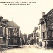 Château-Renard (45) Maisons anciennes CPA