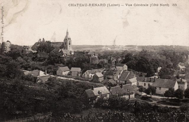 Château-Renard (45) Vue générale CPA