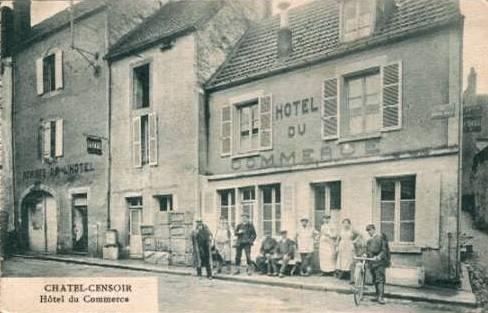 Châtel-Censoir (89) L'hôtel du Commerce CPA