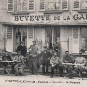 Châtel-Censoir (89) La buvette de la gare CPA