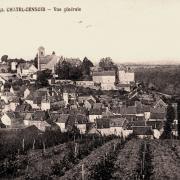 Châtel-Censoir (89) Vue générale CPA