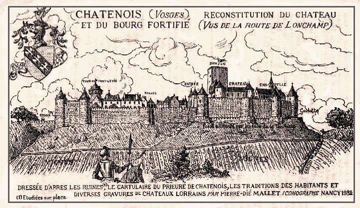 Châtenois, l'ancien château du Haut-Bourg,  reconstitution