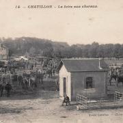 Châtillon-en-Bazois (Nièvre) La foire aux chevaux CPA