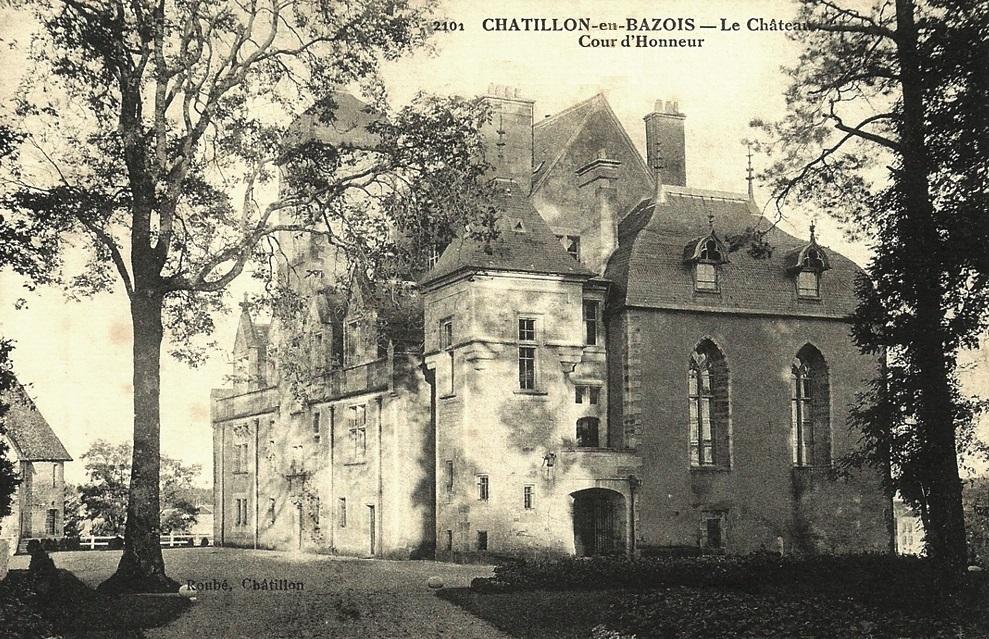 Châtillon-en-Bazois (Nièvre) Le château CPA