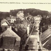 Châtillon-en-Bazois (Nièvre) Vue aérienne CPA