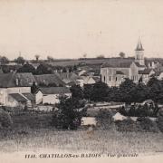 Châtillon-en-Bazois (Nièvre) Vue générale CPA