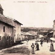 Chauvency-Saint-Hubert (Meuse) La Grande Rue CPA