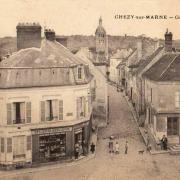 Chézy-sur-Marne (Aisne) CPA Grande rue