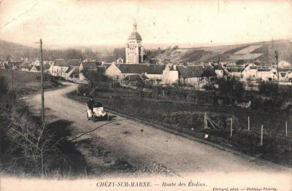 Chézy-sur-Marne (Aisne) CPA Route des Etolins