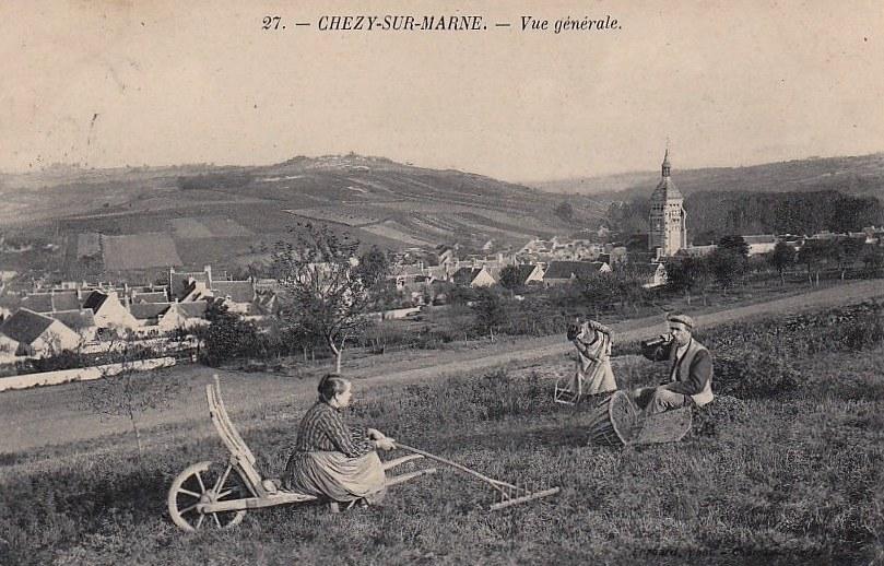 Chézy-sur-Marne (Aisne) CPA Vue générale