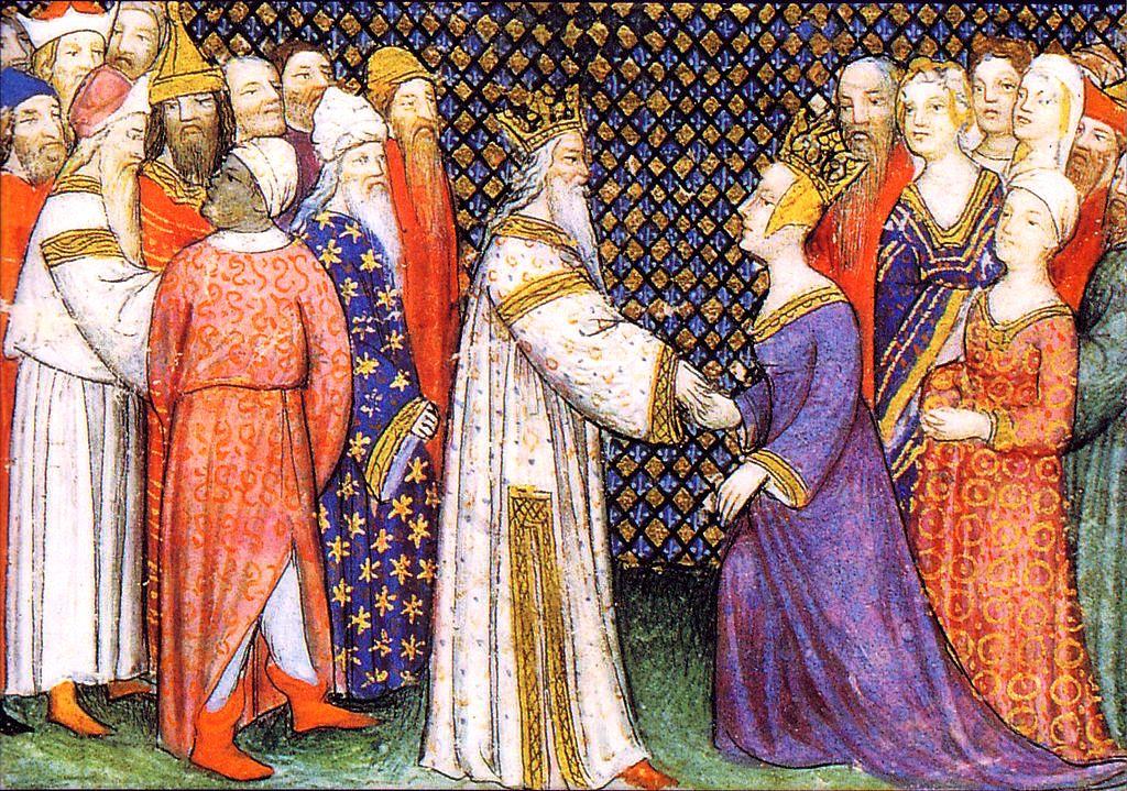 Childéric Ier et Basine de Thuringe, couronnement