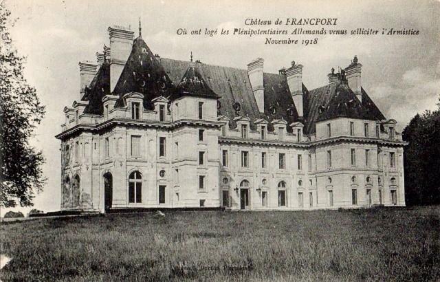 Choisy au bac 60 francport le chateau des bonhommes cpa