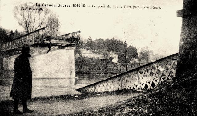 Choisy au bac 60 francport le pont en 1914-18