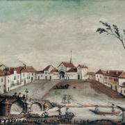 Clamecy (Nièvre) L'évêché de Bethléem en 1790, tableau