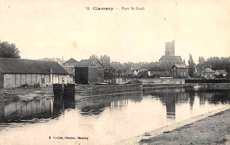 Clamecy (Nièvre) Le port Saint-Roch CPA