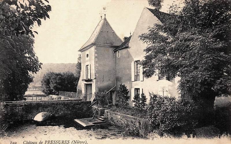 Clamecy (Nièvre) Pressures, le château CPA