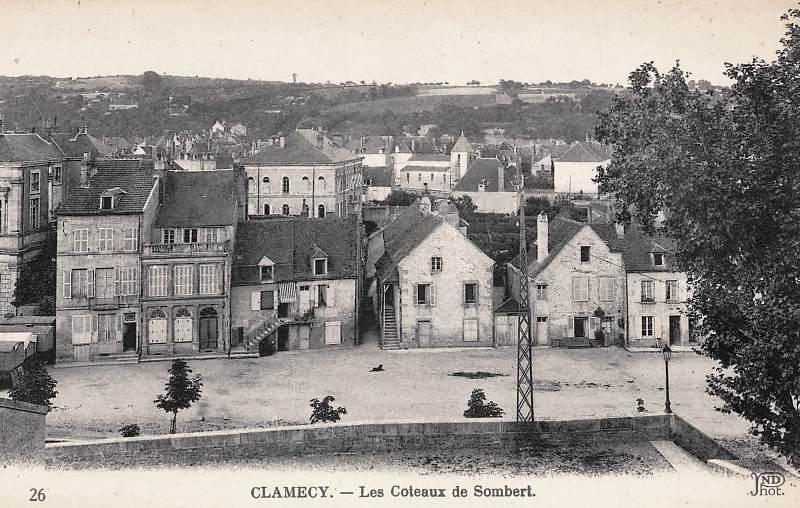 Clamecy (Nièvre) Vue sur Sombert CPA