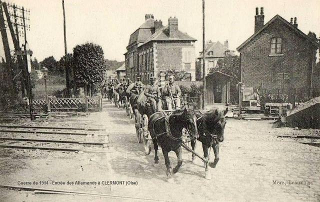 Clermont oise cpa entree des allemands en 1914 1918