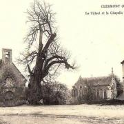 Clermont oise cpa la chapelle et le gros tilleul