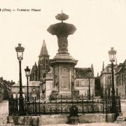 Clermont oise cpa la fontaine masse