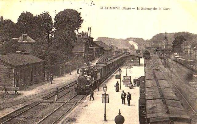 Clermont oise cpa la gare
