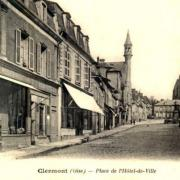 Clermont oise cpa la place de l hotel de ville