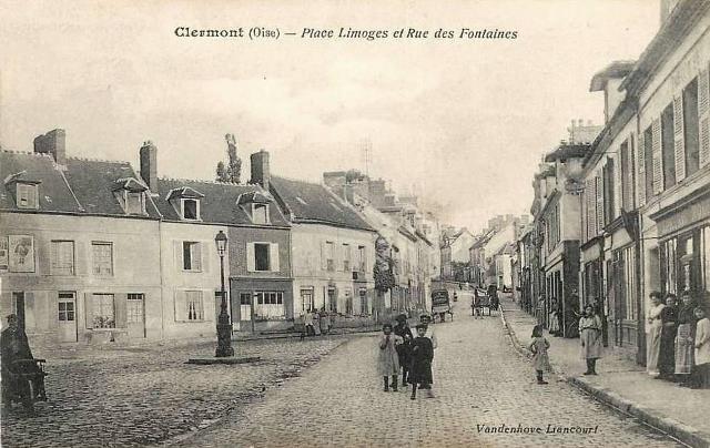 Clermont oise cpa la place limoges
