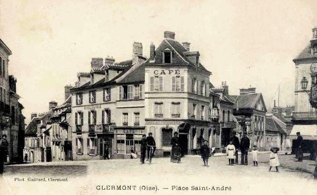 Clermont oise cpa la place saint andre