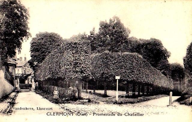 Clermont oise cpa la promenade du chatellier