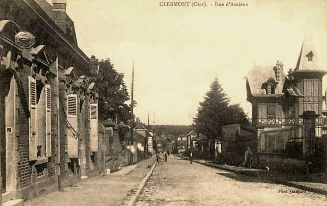 Clermont oise cpa la rue d amiens