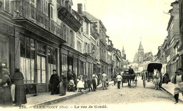 Clermont oise cpa la rue de conde