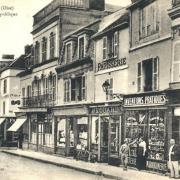 Clermont oise cpa la rue de la republique