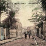 Clermont oise cpa la rue de mouy