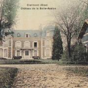 Clermont oise cpa le chateau de la belle assise