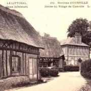 Cleuville seine maritime entree du village cpa