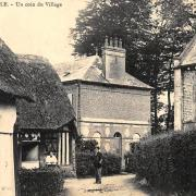 Cleuville seine maritime un coin du village cpa